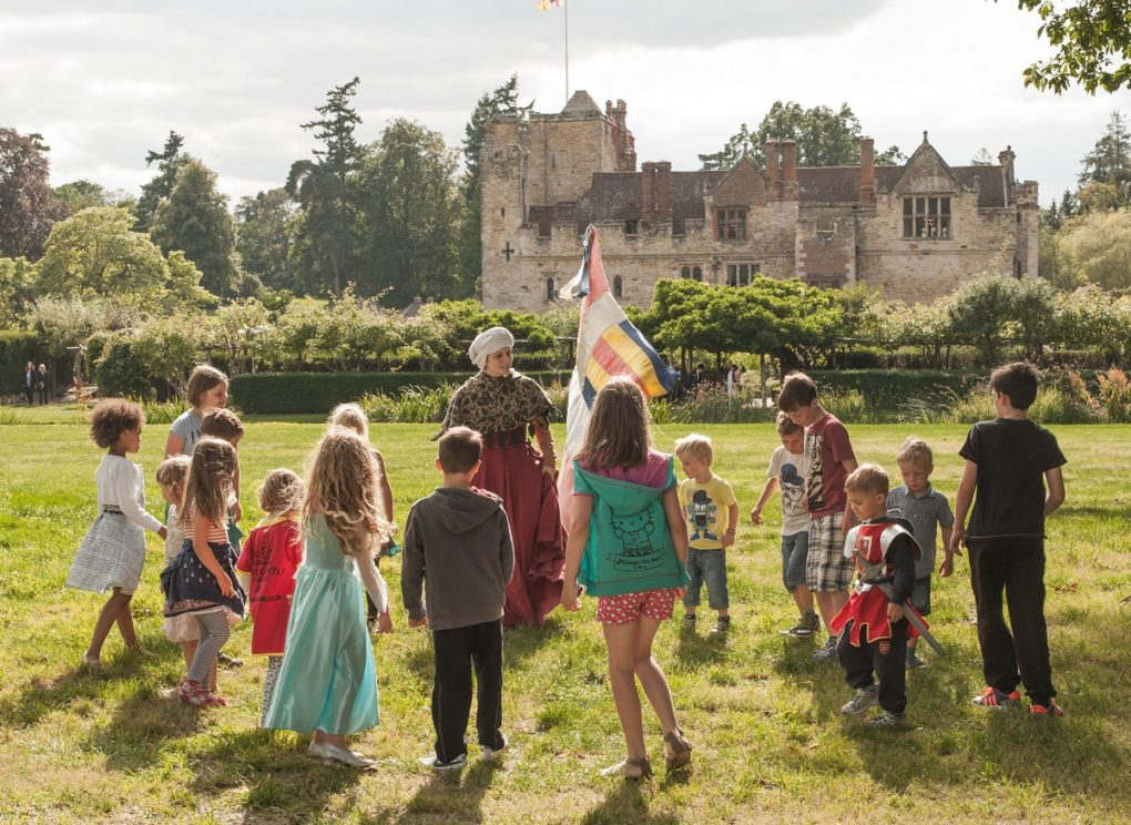 knights and princesses at Hever Castle